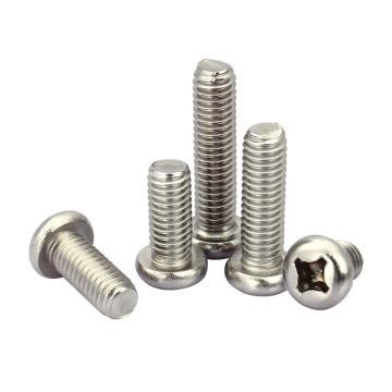 十字槽盘头机螺钉,GB818,M2-0.4×3, 不锈钢A2,1000个/包