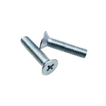 十字槽沉头机螺钉,GB819,M3-0.5×16,4.8级,碳钢,蓝白锌,500个/包