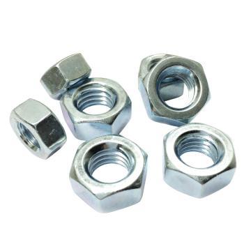 GB6170六角厚螺母,M6-1.0,碳钢8级,蓝白锌,1000个/包