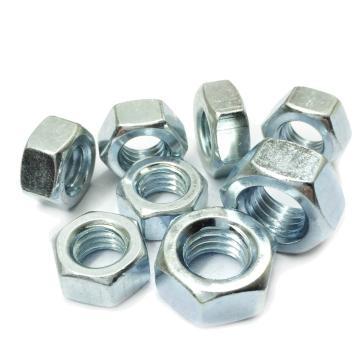GB6170六角厚螺母,M5-0.8,碳钢4级,蓝白锌,1000个/包