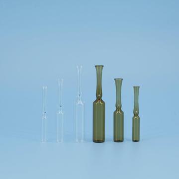 中硼硅玻璃曲颈易折安瓿瓶,5ml,棕色,144个/盒