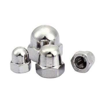 奥峰 DIN1587六角盖形螺母,M10-1.5,不锈钢316,100个/包