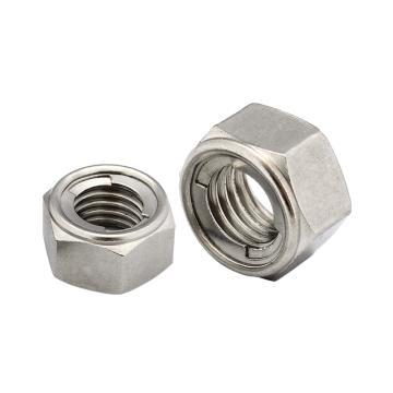六角金属锁紧螺母,DIN980M,M6,不锈钢A2,800个/包