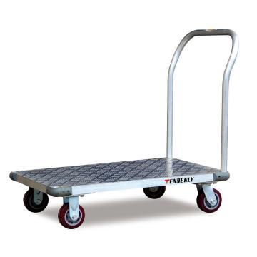 轻型新款铝制平板手推车,额定载重(kg):500,台面尺寸(mm):1525*760