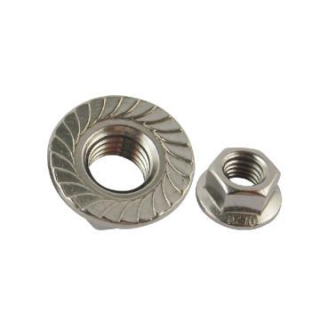 东明六角法兰螺母,DIN6923,M5,不锈钢A2,500个/包