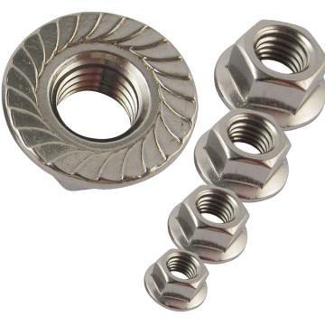 东明六角法兰螺母,DIN6923,M5,不锈钢A4,1000个/包