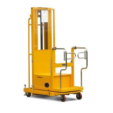 二级门架电动取货车,200Kg  站人平台高度270-2510mm  载货平台高度480-2720mm  载货平台尺寸640X600mm