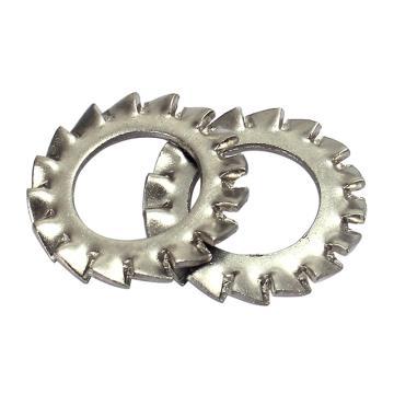 外锯齿锁紧垫圈,GB862.2,ø3,不锈钢A2/SUS304,1000个/包