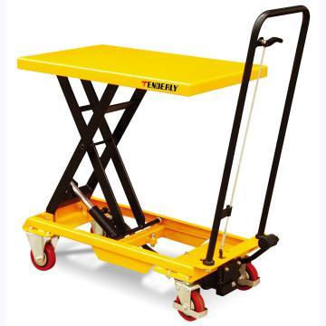 经济型单剪脚踏式升降平台车,额定载重(kg):200,台面尺寸(mm):700*450