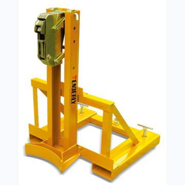 叼扣式叉车专用油桶搬运夹,360kg (单筒/钢桶)