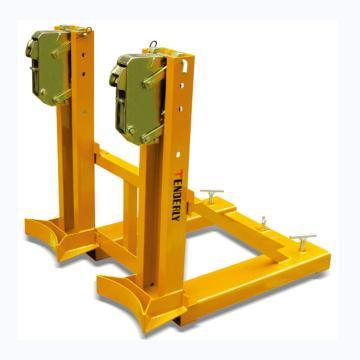 叼扣式叉车专用油桶搬运夹,720kg (双筒/钢桶)