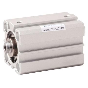"""亚德客超薄气缸,SDA20X25 M5x0.8"""" 1-9bar 双作用"""
