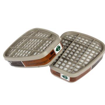 3M 6005CN甲醛/有机蒸汽滤毒盒,2个/包