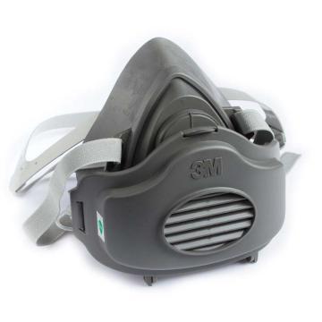 3M 3100半面型防护面具,小号