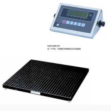 2000Kg 超低型地磅,(带不锈钢外壳电子显示/数据线/充电器) 台面1220X1220mm 离地高度70mm 与LE48斜坡配合或挖地坑使用