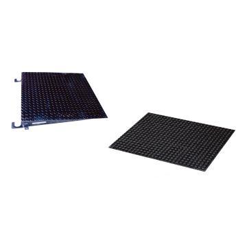 NA 系列地磅专用斜坡(一对2块), 单块宽度1500mm, 单块长度915mm, 斜坡角度4.45°, 斜坡表面采用耐磨黑色涂层, Ref.# 975265