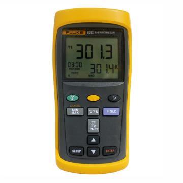 福禄克/FLUKE 双通道数字温度表,FLUKE-52-II CMC