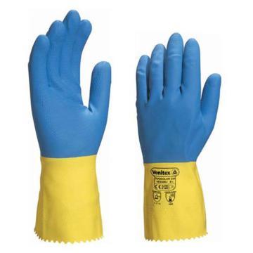 代尔塔 201330-8 天然双色乳胶防化手套