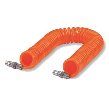 PU螺旋气管,Φ10×Φ6.5×6M,橙色,附公-公接头,UCS100065GE060MA3