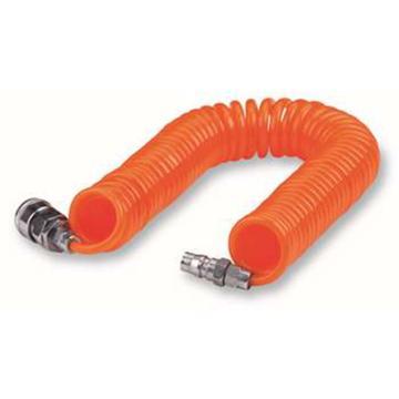 PU螺旋气管,Φ12×Φ8×6M,橙色,带母公快速接头,亚德客1280-6-O