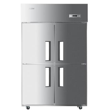 海尔 不锈钢立式四门单温全冷冻商用厨房大冰箱,SL-1050D4,1050L