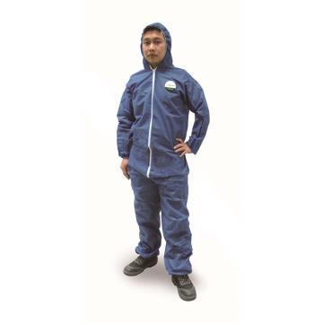 雷克兰 PPP428BE-XL 聚服佳蓝色防化服,40件/箱