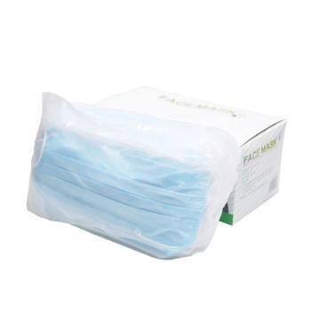 冠桦G-203(蓝)防护口罩,一次性三层无纺布口罩,蓝色,50只/盒