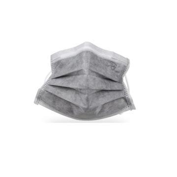 冠桦G-210一次性四层无纺布活性炭口罩,灰色,2只/包,50只/盒