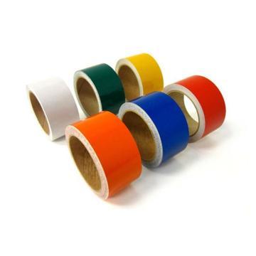 安赛瑞 反光划线胶带,高性能反光自粘性材料,50mm×22m,黄色,14203
