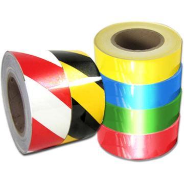 安赛瑞 反光划线胶带,高性能反光自粘性材料,50mm×22m,红/白,14206