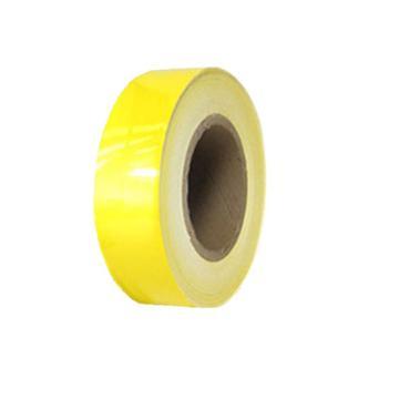 安赛瑞 反光划线胶带,高性能反光自粘性材料,75mm×22m,黄色,14208