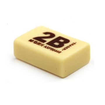晨光 M&G 2B橡皮 AXP96448 50A(黄色)72块/盒