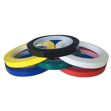 安赛瑞 桌面定位划线胶带,高性能自粘性PVC材料,10mm×66m,黑色,14411