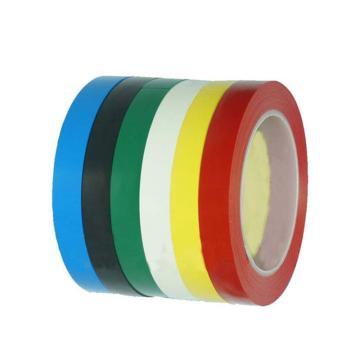 安赛瑞 桌面定位划线胶带,高性能自粘性PVC材料,15mm×66m,黑色,14417