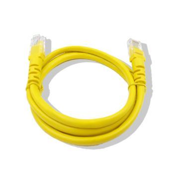 爱谱华顿六类单屏蔽RJ45跳线(5米),AP-6-02-5D 黄色