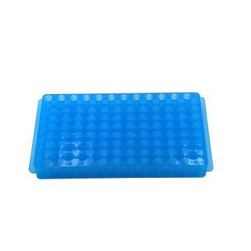微量管架,蓝色,96孔,250×112×17mm,5个/包