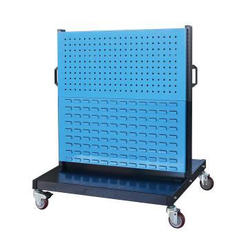 信高 移动型双面物料架(2方孔2百叶),960*640*1156mm,KM-2222,散件发货,安装费另询