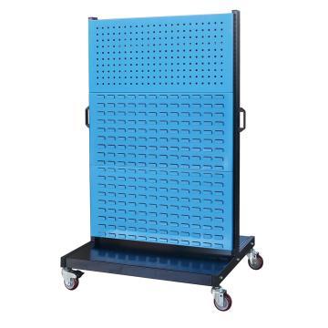 信高 移动型双面物料整理架(2方孔4百叶),960*640*1605mm,KM-2324,散件发货,安装费另询