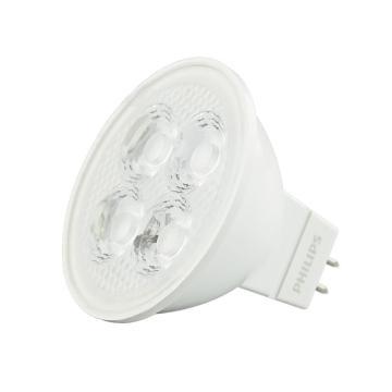 飞利浦 5W LED MR16射灯光源12V 24度 GU5.3暖光 黄光,整箱,10个每箱,单位:箱