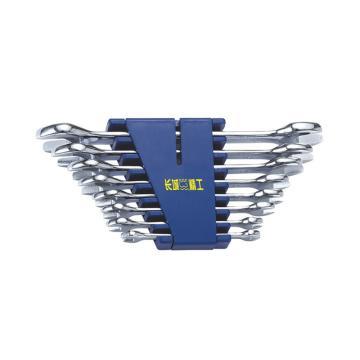 长城精工 开口扳手组套,10pcs公制 6*7-30*32mm,324110