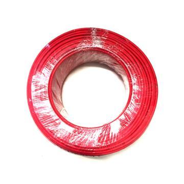 沪安 ZR-BVR线,阻燃单芯软电线,ZR-BVR-4mm² 红 95m/卷