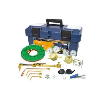 捷锐中型焊接与切割成套工具,适用气体氧气、乙炔 ,割炬332C, 割嘴100A-1