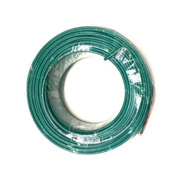 沪安 ZR-BVR线,阻燃单芯软电线,ZR-BVR-4mm² 绿 95m/卷
