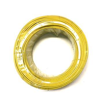 沪安 阻燃单芯硬电线,ZR-BV-4mm² 黄,95m/卷