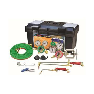 捷锐焊接与切割成套工具,中型,适用气体氧气、丙烷或天然气,割炬332C,割嘴100N-1