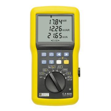 CHAUVIN ARNOUX/CA C.A 8220单相电能质量分析仪 ,谐波可测,无钳头