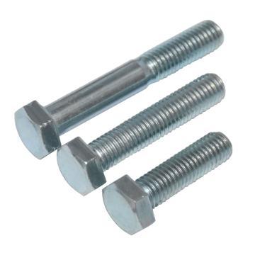 8.8级外六角螺栓,M12-1.75×55,蓝白锌,全牙,GB5783, 75个/包