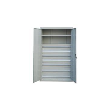 1层层板铁门型置物柜, 1000W*600D*1800H