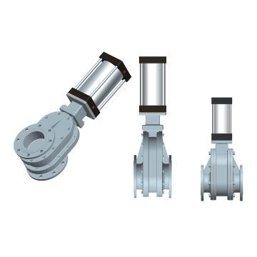 常州凯润 陶瓷双闸板气锁耐磨出料阀 XZ644TC-10Q,DN150