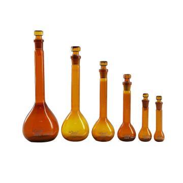 棕色容量瓶,玻璃塞,1000ml,2个/盒